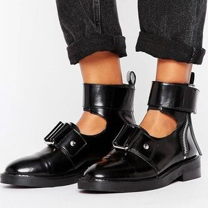 Leather Cut Out Boots